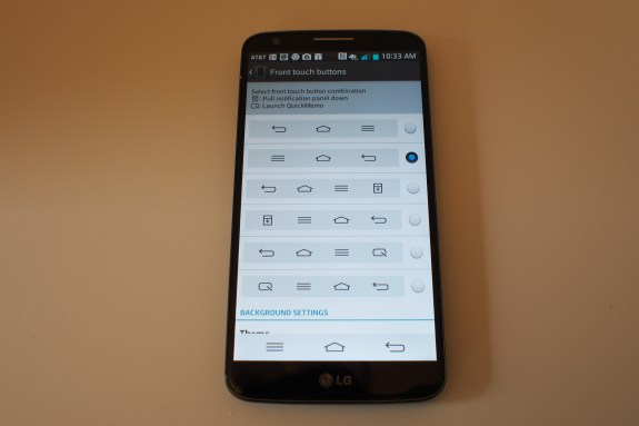 LG's UI allows you to even customize the buttons of the Android navigation keys!