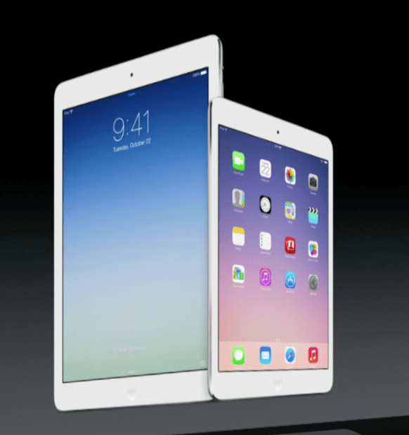 ipad air and ipad mini with retina