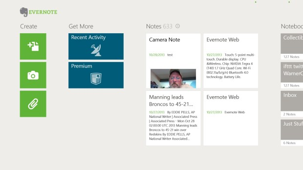 The Evernote Touch App