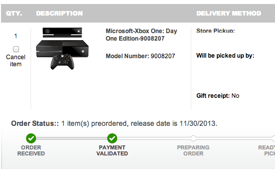 Our Xbox One Day One release date is now November 30th.