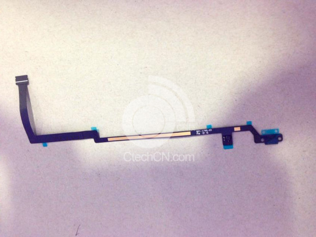 This alleged iPad 5 home button cable is considered evidence of an iPad 5 Touch ID sensor.