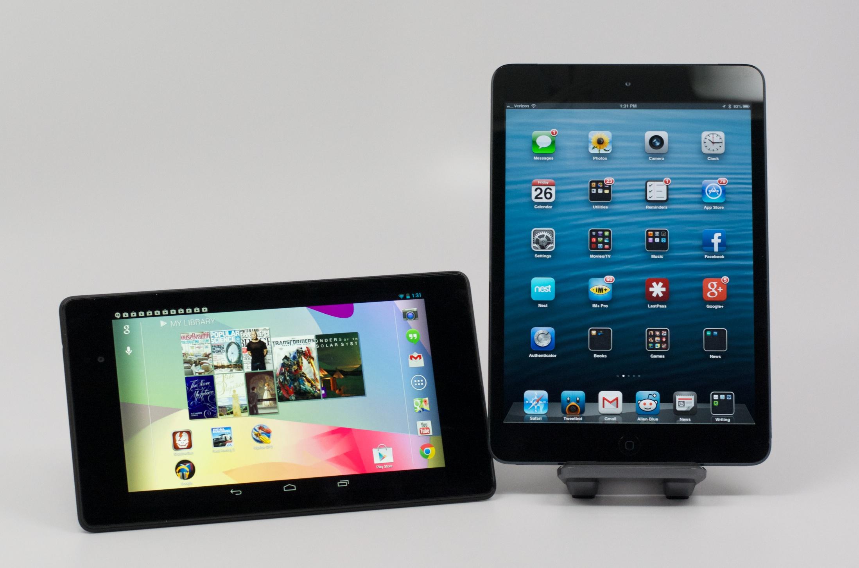ipad mini 2 vs nexus 7 2013 7 key differences. Black Bedroom Furniture Sets. Home Design Ideas