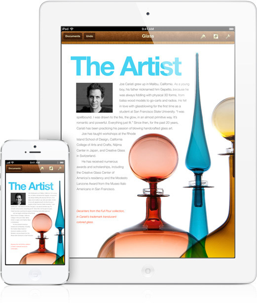 iWork apps like Pages are now available for free to all iOS 7 users.