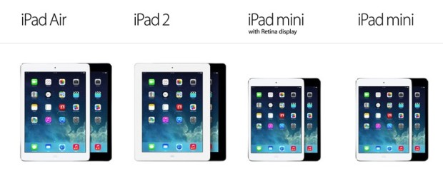 compare ipad sizes