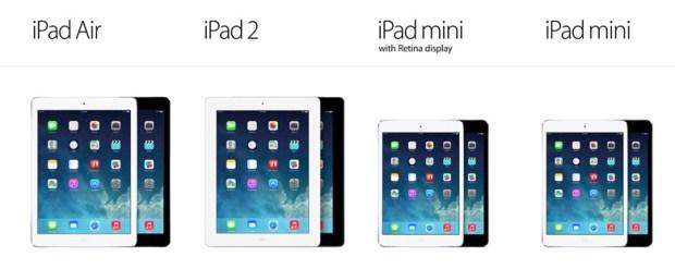 compare ipad sizes