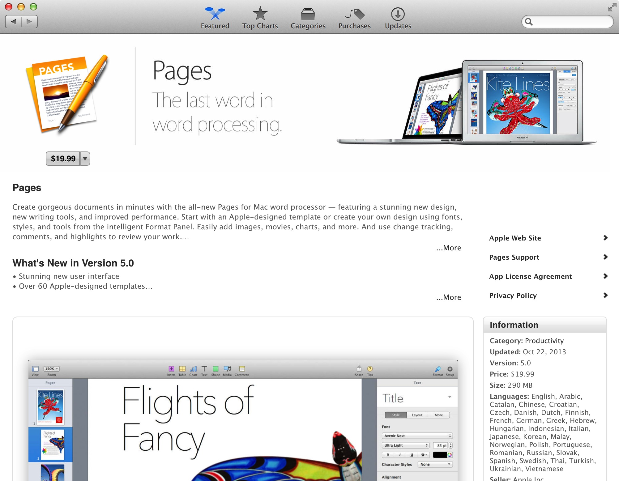 latest version of keynote for mac