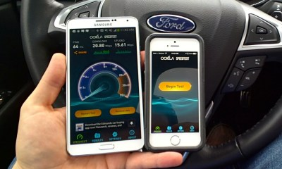 Check out the speedtest of Verizon v.s AT&T 4G LTE on the Note 3 and the iPhone 5s.