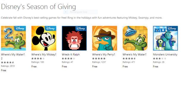 Free Disney Games for Windows Phone users