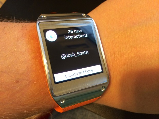 Get more notifications with ATN on the Galaxy Gear.