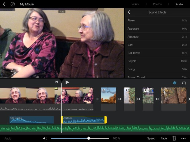 imovie on an ipad air