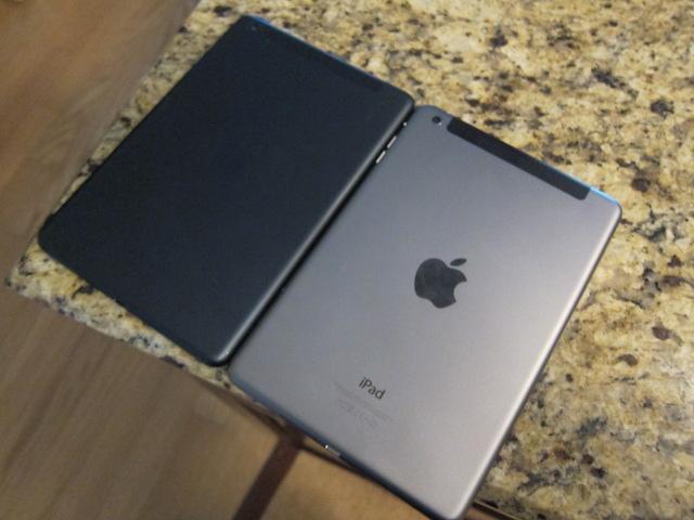 iPad mini with Retina Display on the right