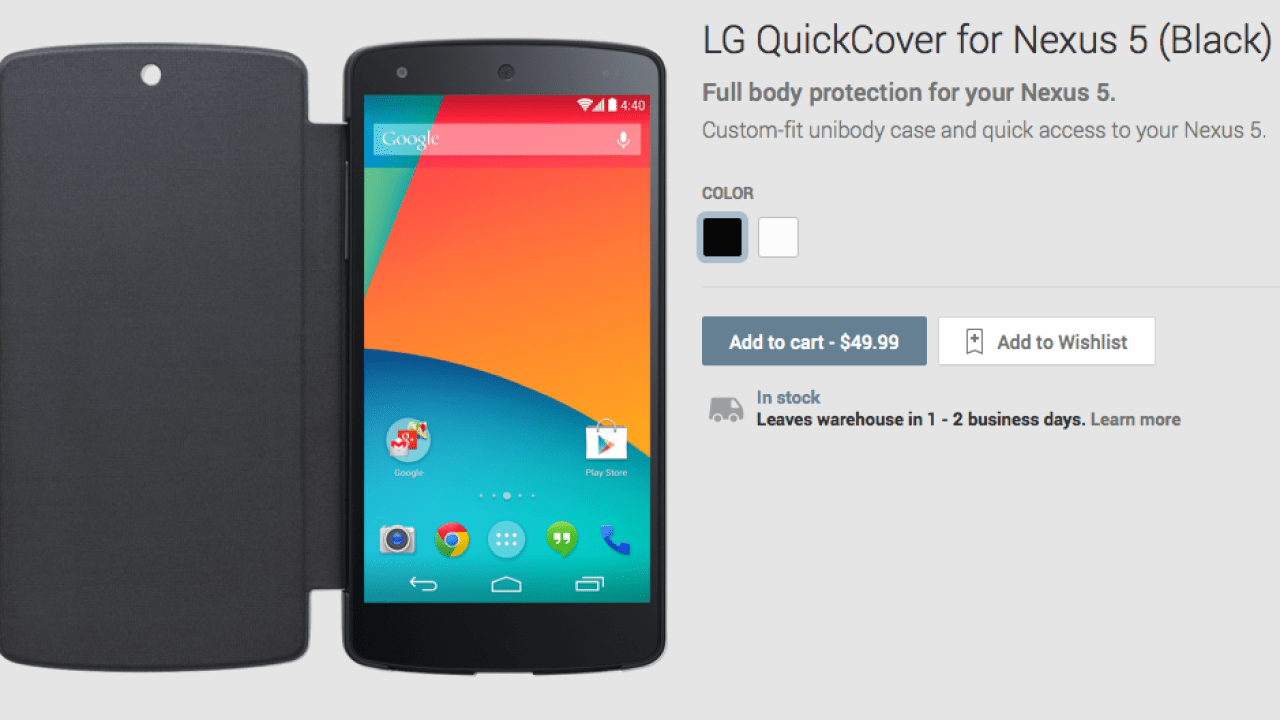 on sale 94387 13832 Nexus 5 Cases and Wireless Charger Hit Google Play