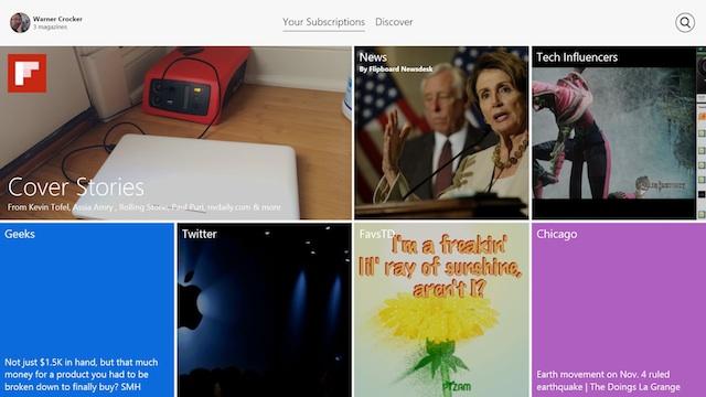 Flipboard for Windows 8.1