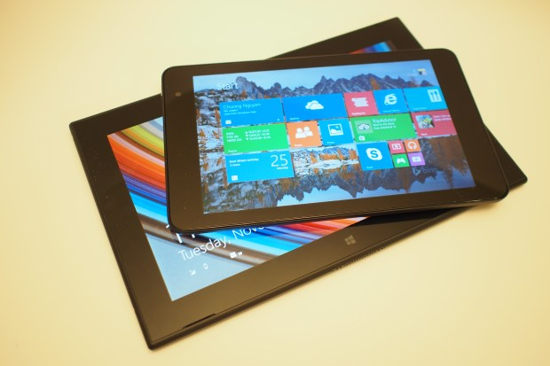 8-inch v. 10.1-inch. The recently reviewed Nokia Lumia 2520 compared to the Dell Venue 8 Pro.