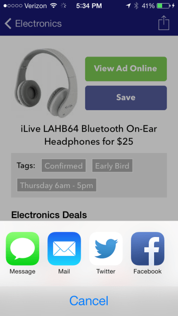 The Dealnews Black Friday 2013 app includes search, sharing and much more.
