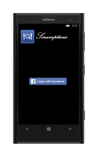 facebook login on windows phone