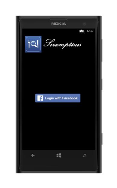 facebook login on windows phone