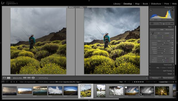 lightroom as part of the photoshop photography program