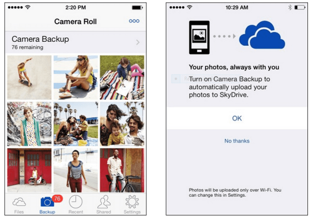 skyDrive for iOS update