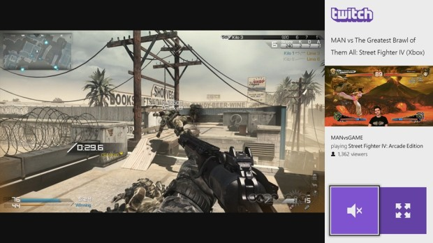 Twitch on the Xbox One.