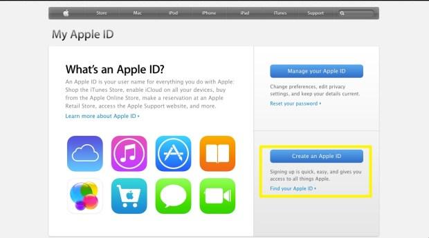 Create an Apple ID
