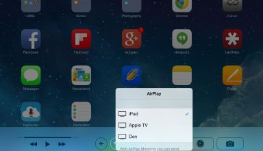 airplay in ios control center