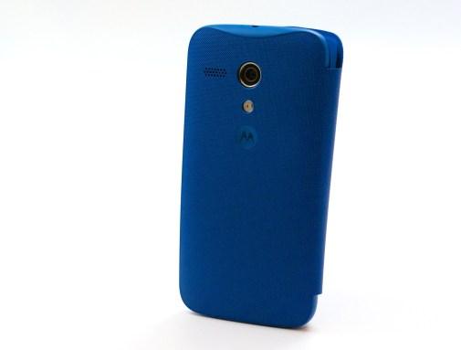 A Moto G flip cover.