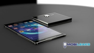 Samsung Galaxy S5 concept with foldable screen.