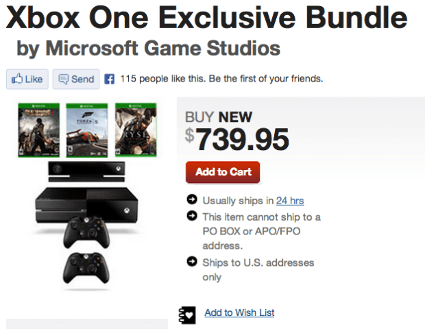 XBox One GameStop Cyber Monday Deal