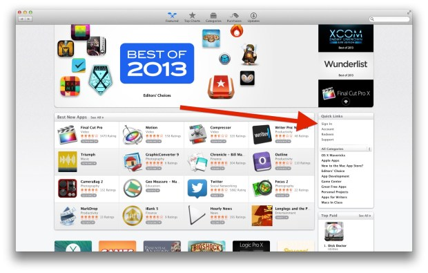 app store sign in