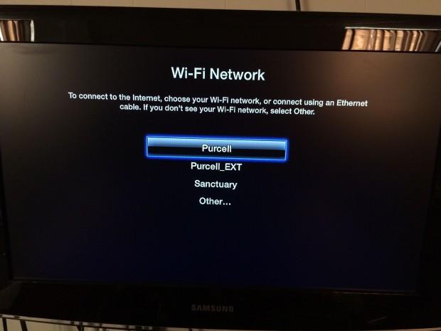 applt tv wifi network list