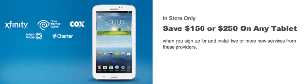 Save big on iPad deals if you are switching phone, TV or Internet services.