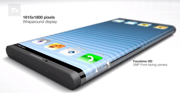 Artist concept of a wrap-around iPhone
