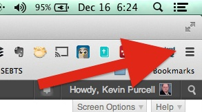 menu button on chrome browser