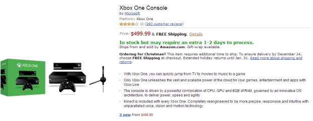 xbox one returns to amazon