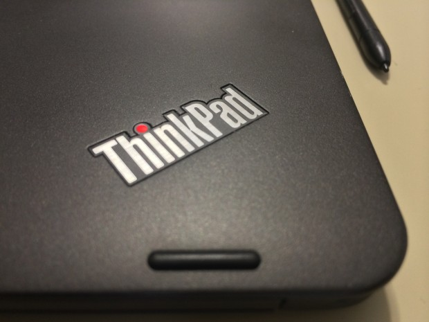 The ThinkPad Yoga's glowing logos are one of the only real design flourishes it has.