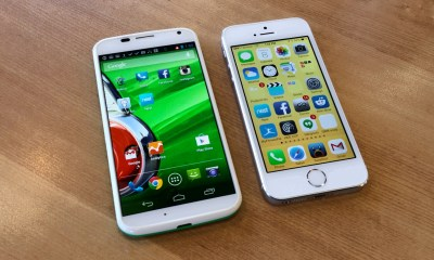 The Moto X and the iPhone 5s are both popular phones.