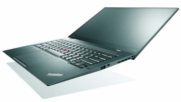 The ThinkPad X1 Carbon is thinner and lighter with new controls.