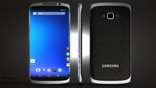 Samsung Galaxy S5 concept with plastic and metal.