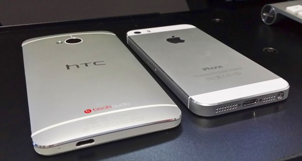 The HTC One and iPhone 5s are both easy on the eyes.
