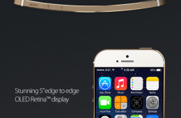 This iPhone 6 concept features a curved display and a larger 5-inch screen.