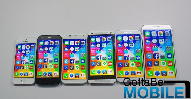 What iOS looks like on the many rumored iPhone 6 screen sizes.