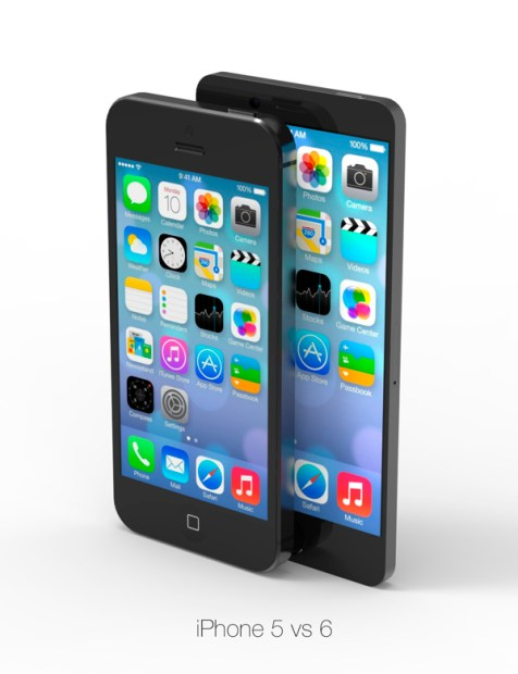 This iPhone 6 concept with a larger screen is not much bigger than the iPhone 5 and iPhone 5s.