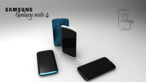 A Galaxy Note 4 concept with three-sided display for better viewing angles.