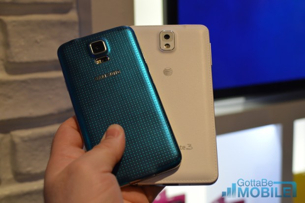 Galaxy S5 vs. Galaxy Note 3.