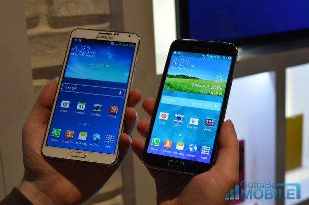 The Galaxy Note 3 offers a larger 5.7-inch display.