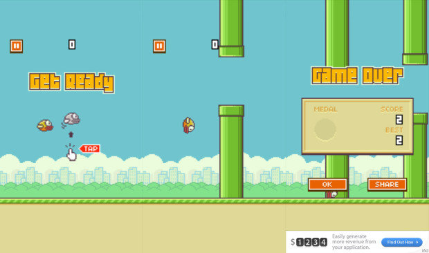 Here are a collection of Flappy Bird cheats and tips.