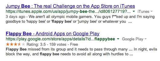 Flappy Bee is now Jumpy Bee on the Apple App Store.