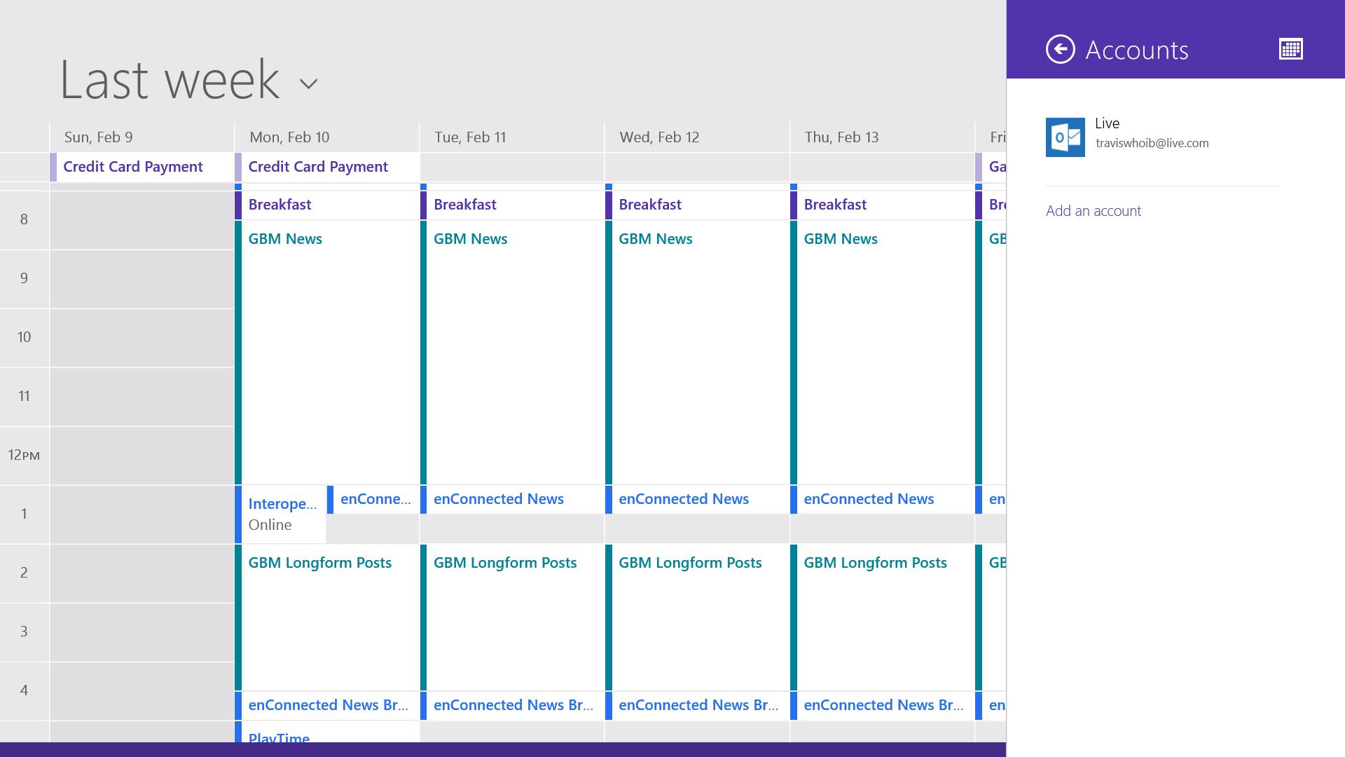 windows calendar online