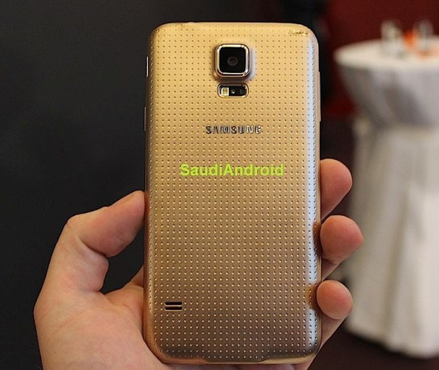 The back of the Galaxy S5 in gold from @SaudiAndroid.